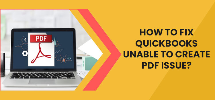 QuickBooks Unable to Create PDF